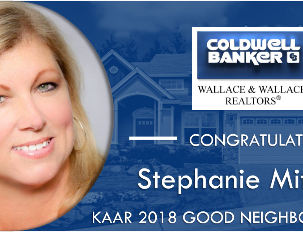 "Coldwell Banker Wallace & Wallace, RealtorsⓇ  Stephanie Mitchum Recipient of KAAR 2018 ""Good Neighbor Award"""